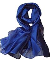 Unilove Summer Silk Scarf Gradient Color Long Lightweight Sunscreen Shawls for Women