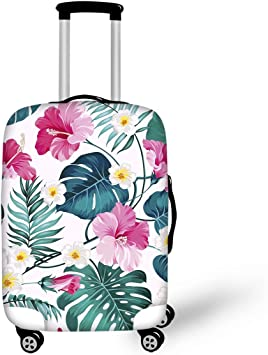 Bottle And Tree Travel Luggage Cover Spandex Suitcase Protector Washable Baggage Covers