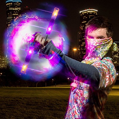 UltraPoi Helix Poi Set LED Poi for Raves and Concerts LED Glow Sick by UltraPoi (Image #2)