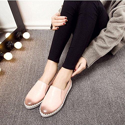 T-juli Kvinnor Halka På Gymnastik Loafers Komfort Plattform Mockasiner Syntetiska Öre Lägenheter Skor Rosa