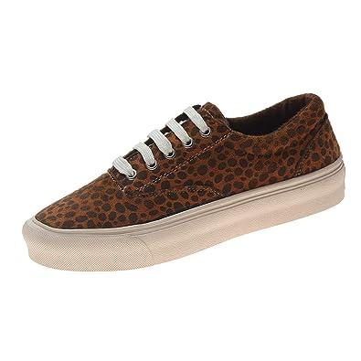Leopard Lacets Basket Plates Femme Sport Coure Mode Chaussure Osyard qwtITAn