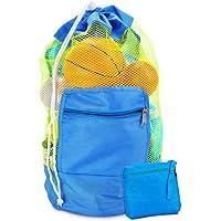 Bolsa de Juguetes de Playa, Bolsa de Playa de Malla para Juguetes de Arena Mochila de Playa para niños Nadar y Piscina…