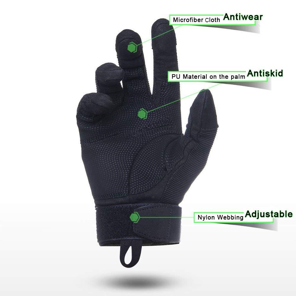 TPRANCE Tactical Gloves for Men, Full Finger Hard Knuckle Gloves for Outdoor Sports by TPRANCE (Image #5)
