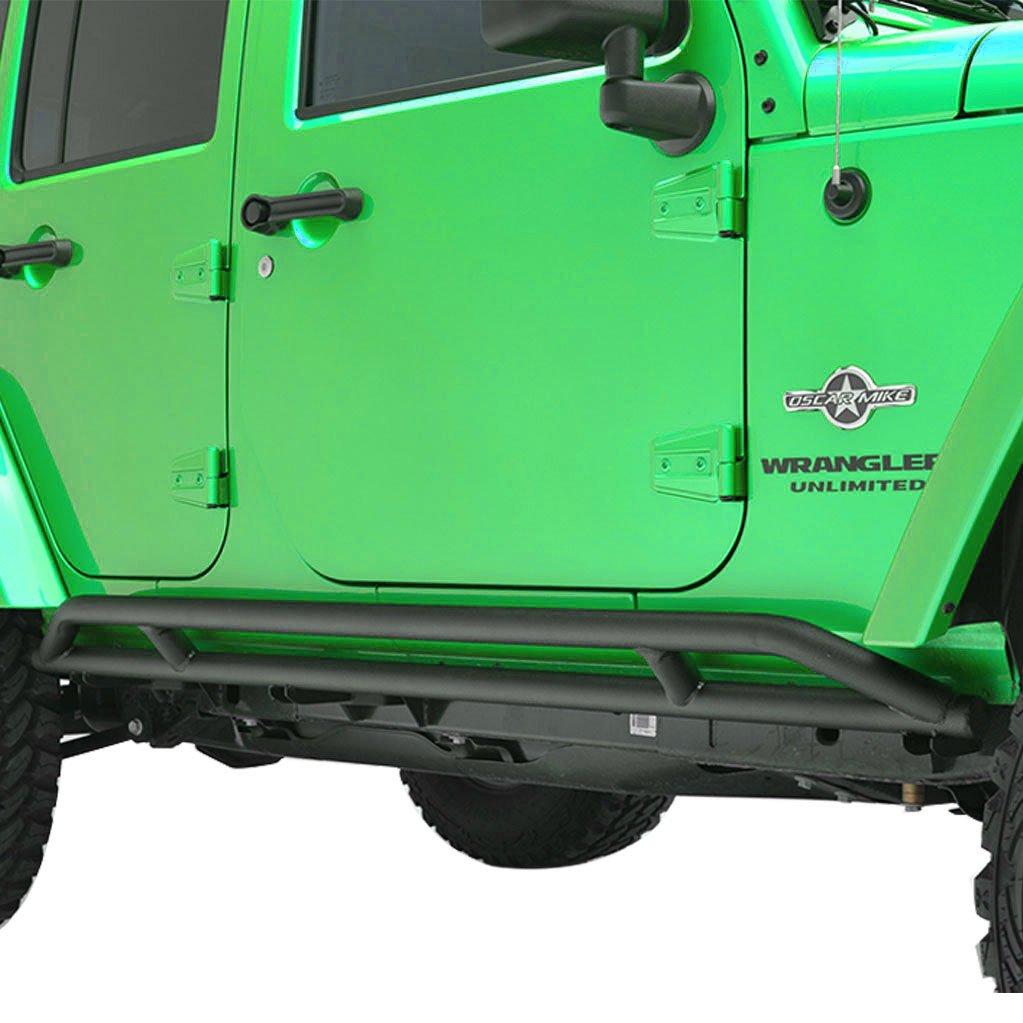 Tidal 07-18 Jeep Wrangler JK 4 Door Side Armor Rocker Guard Rock Sliders Tidal Automotive