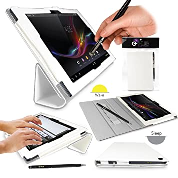 SONY XPERIA Z Tablet Case - G-HUB WHITE PropUp Stand Case Cover ...
