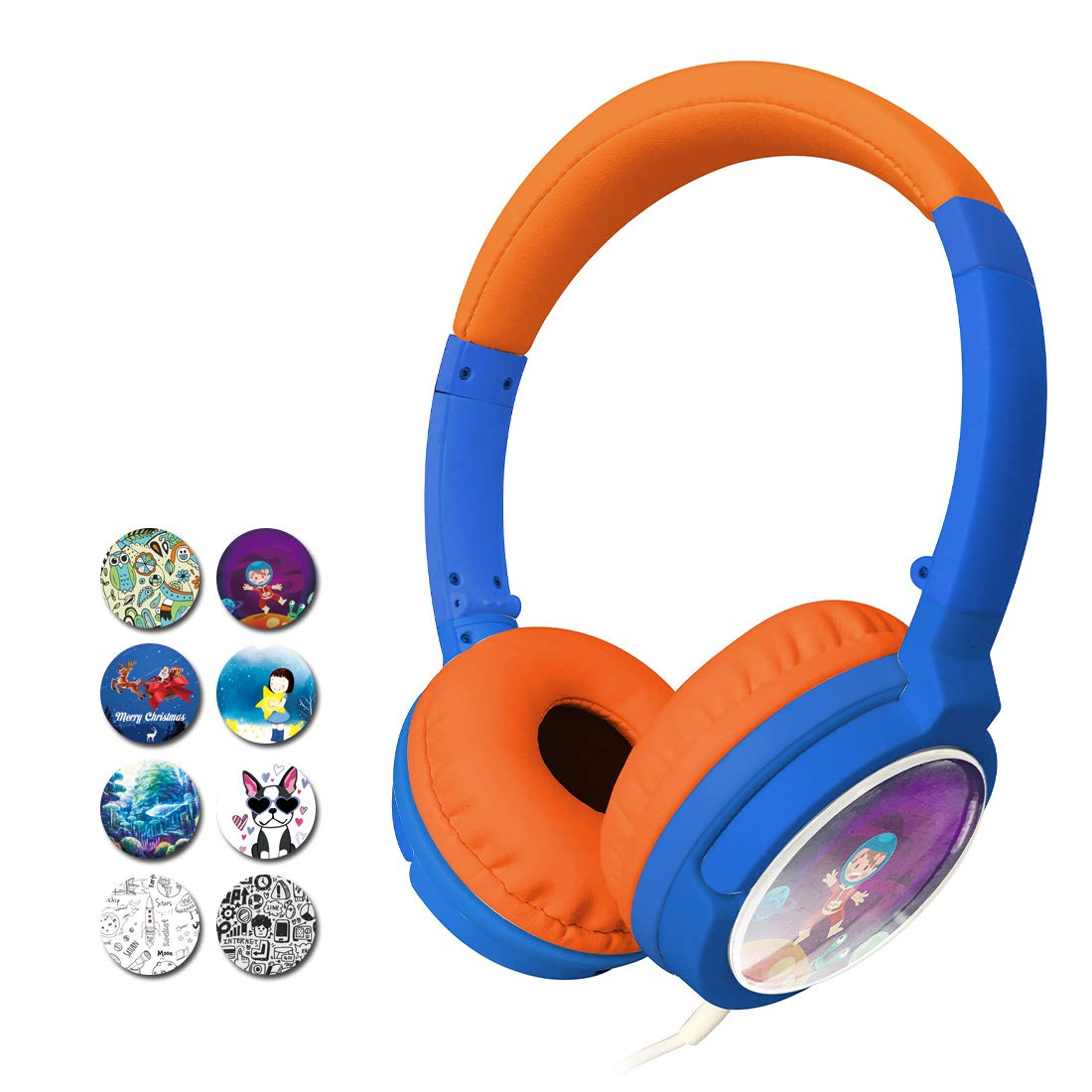 Skyaudio 2020 Upgraded DIY Kid Headphones Volume Limiting Bass Stereo Headphones Foldable Adjustable Headphones Portable Line Kid Headphones