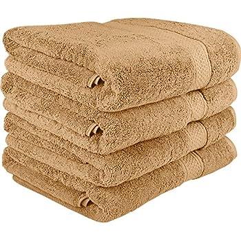 Premium 8 Piece Towel Set Beige 2 Bath Towels 2 Hand Towels And 4 Washcloths
