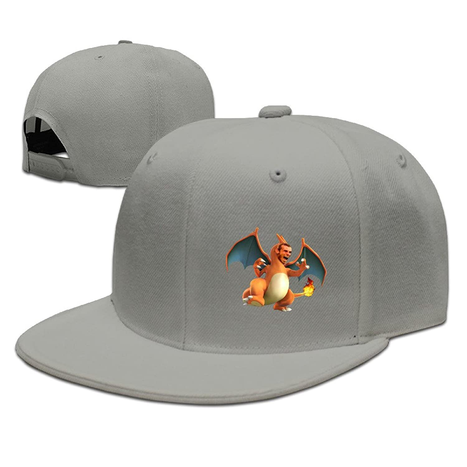 Gareth Bale Charizardd Fitted Normal \r\nLarge Size For Men Cap Women