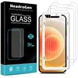 HeadroGen [3 Pack] Glass Screen Protector for iPhone 12, iPhone 12 Pro - Case Friendly (Easy Install) Tempered Glass…