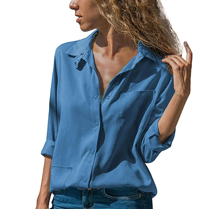 Amphia Blusa Elegante Mujer, Blouse Estampada Mujer-Camiseta Tops Mujere- Blusas Mujer Tallas