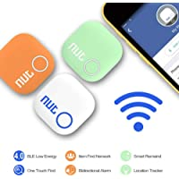 NutNut Smart Key Finder Anti-Lost Tag - Bluetooth Cell Phone Wallet Bags Pet Tracker with App Control for iOS and Android Devices (White)