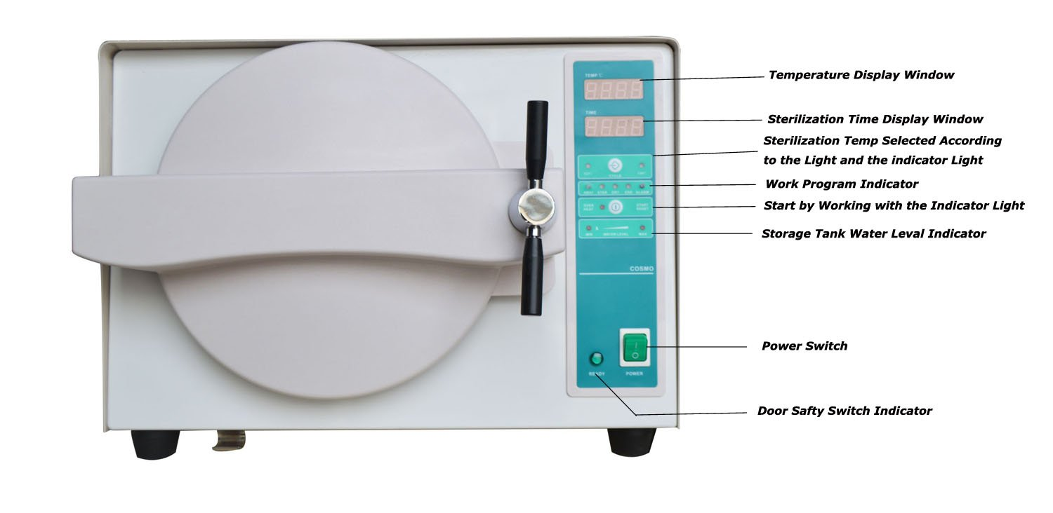 Full Automatic Sterilizing Machine Autoclave Steam Sterilizer 18L Dental Beauty Equipment 110V (Item#210062) Tongtuo