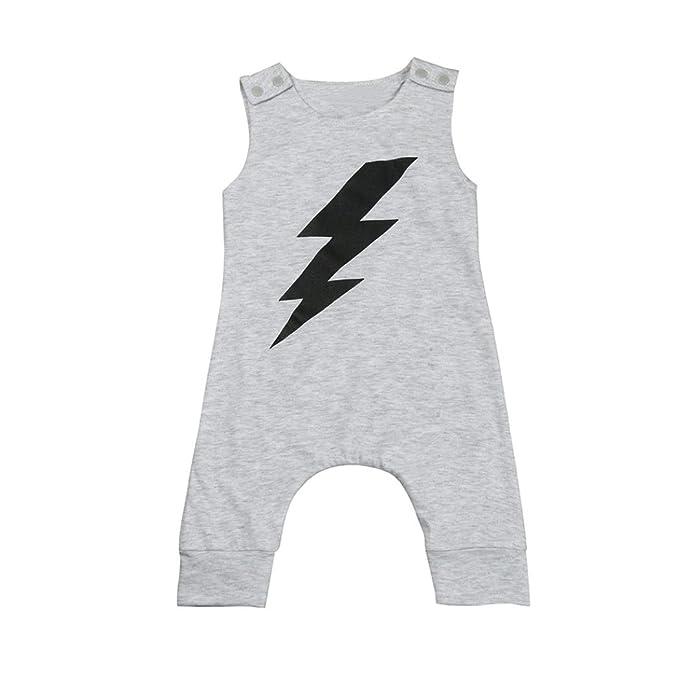 Niño Bebe Monos K-youth® Moda Ropa Bebe Niño Verano Ropa Bebe Recien Nacido