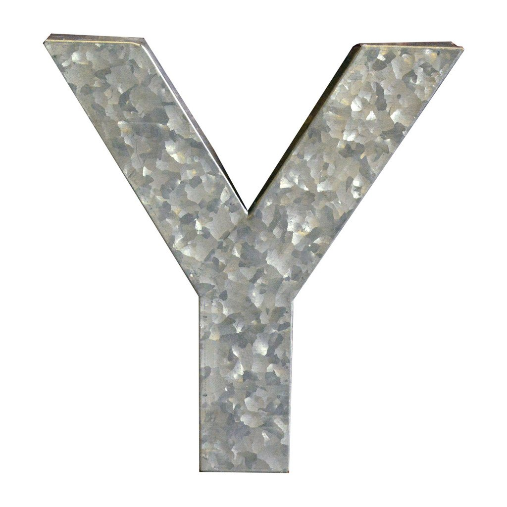 Modelli Creations Alphabet Letter Y Wall Decor, Zinc