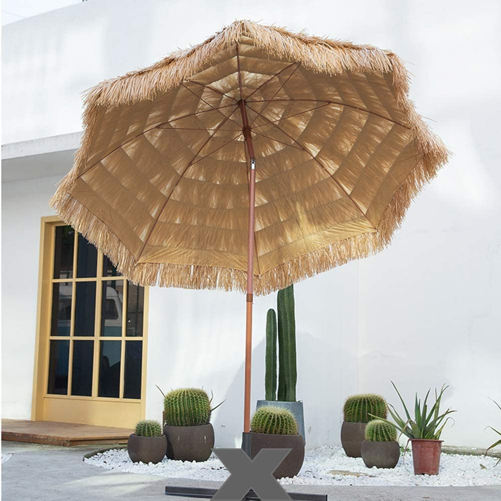 Sombrilla De Paja 240 CM Sombrilla De Playa Inclinable,Sombrilla Octogonal para Piscina Pérgola Patio, Estilo Hawaiano: Amazon.es: Hogar