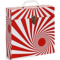 Tunes-Tote Swirl Red Storage & Carry Record Case for LPs, Albums, 33-1/3 & 78 RPM (3301)
