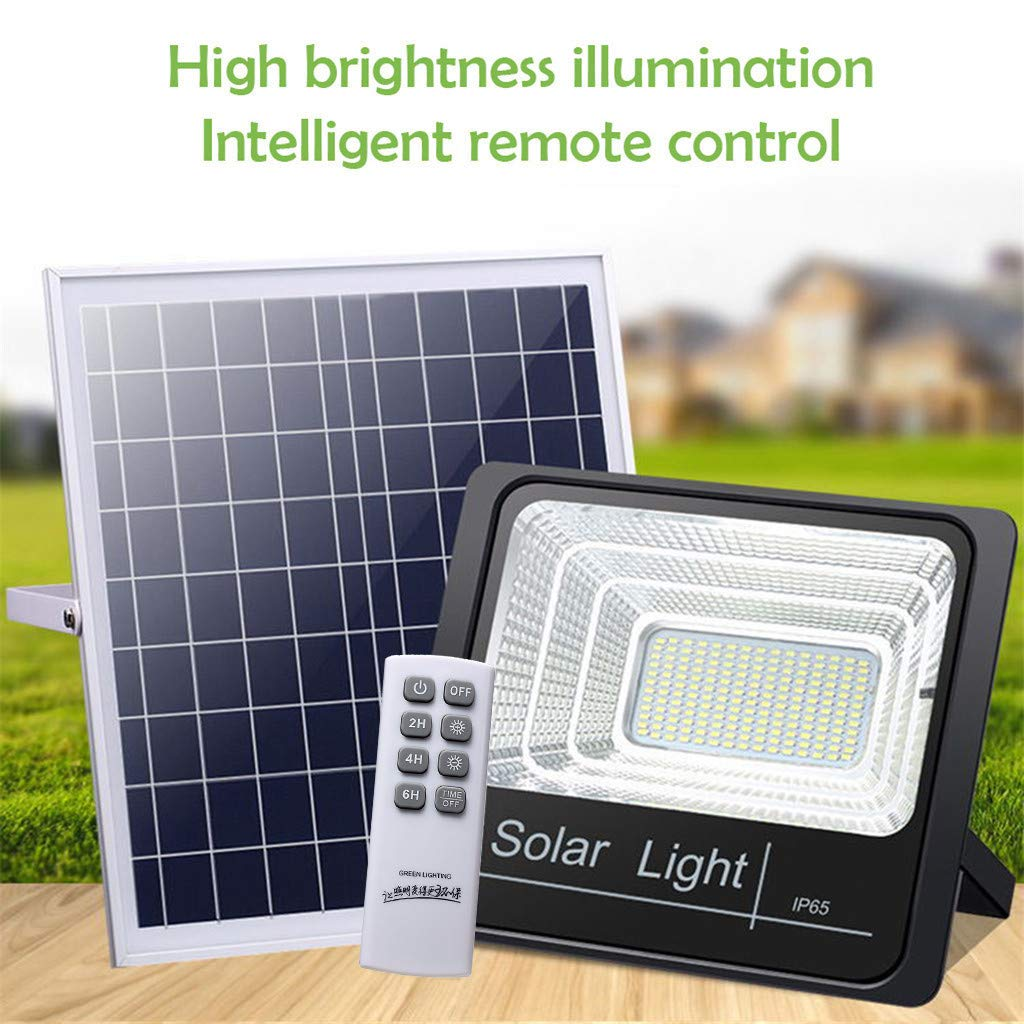 cnnIUHA Solar Wall Lights Outdoor, 60W Solar Powered Sensor LED Flood Light, Waterproof Solar Landscape Lights for Flower Lawn, Patio, Yard, Garden, Walkway Decoration