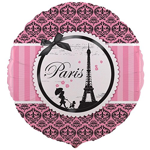 Paris Eiffel Tower Damask Party Supplies - Foil Balloon (Louvre Tower Eiffel)