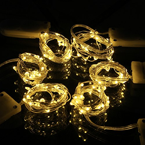 SUPERNIGHT 6 Pack Battery Operated Led String Lights, Tin...