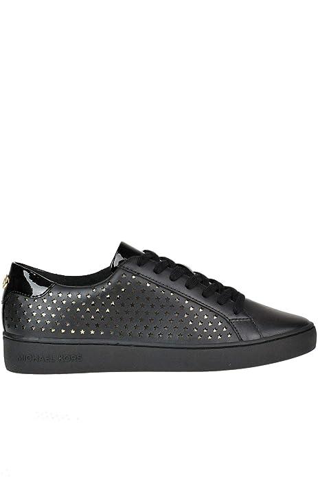 Michael By Michael Kors Mujer Mcglcak000005151e Negro Cuero Zapatillas: Amazon.es: Zapatos y complementos