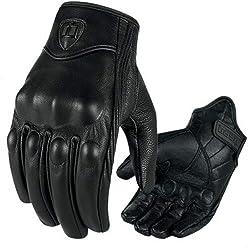 Keepmoving Motorradhandschuhe Sport Leder Schutz Biker Rad Game Handschuhe Atmungsaktiv und Rutschfest