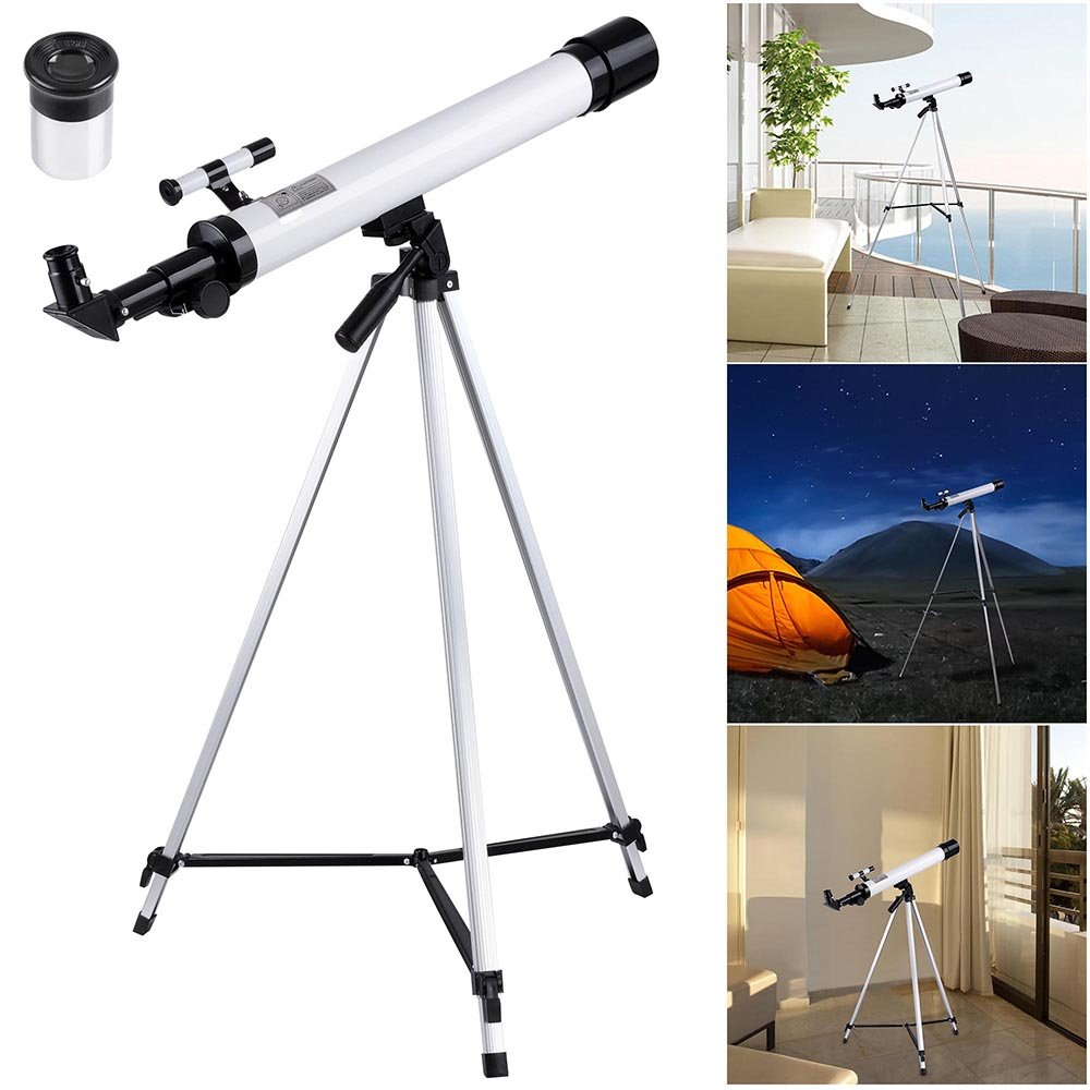 AW 50mm Kids Beginners Astronomical Refractor Telescope Spotting Scope Refractive Eyepieces Tripod