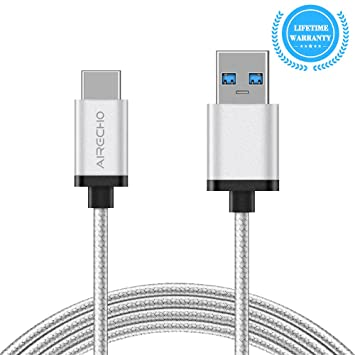 Airecho USB 3.1 Tipo A Cable C Cable SuperSpeed + Nylon trenzado USB reversible C a