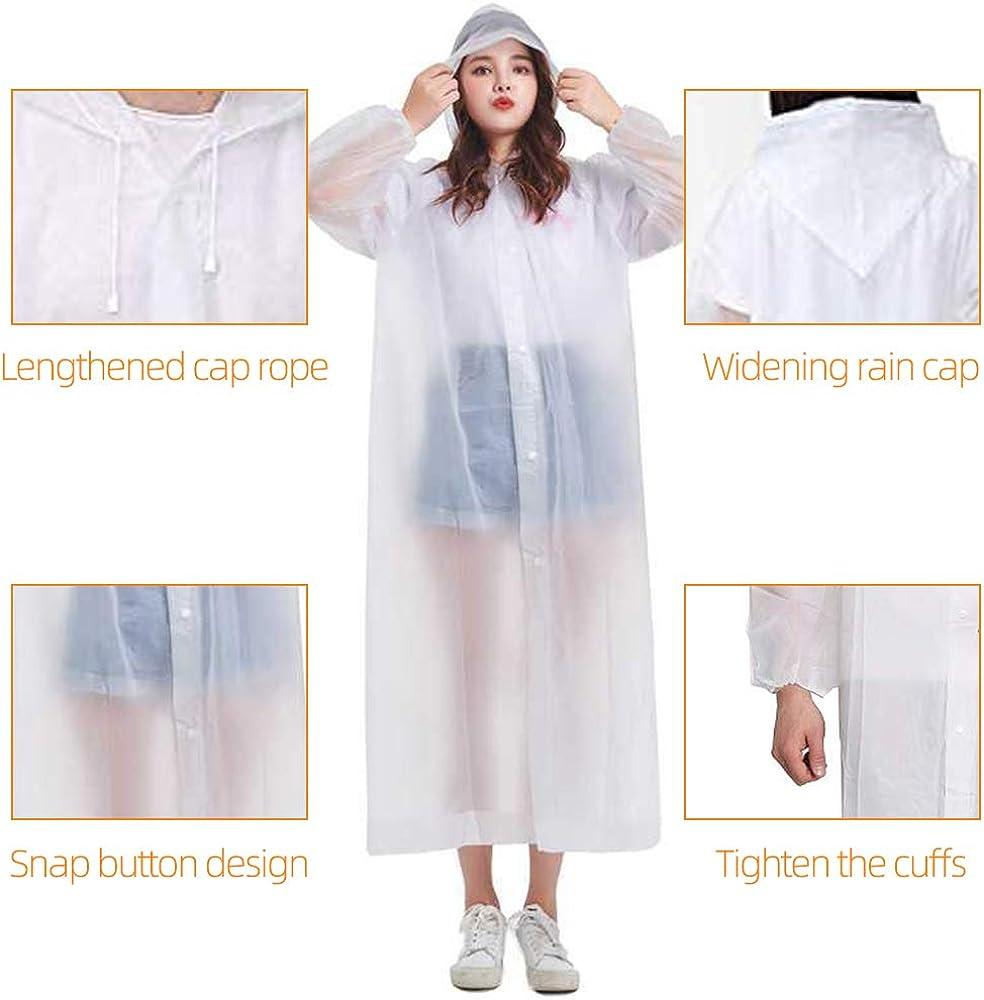 POLARHAWK Rain Coat,2 Pack Reusable Portable Raincoat Jacket Rain Poncho with Drawstring Hood and Sleeves for Women Men Adults