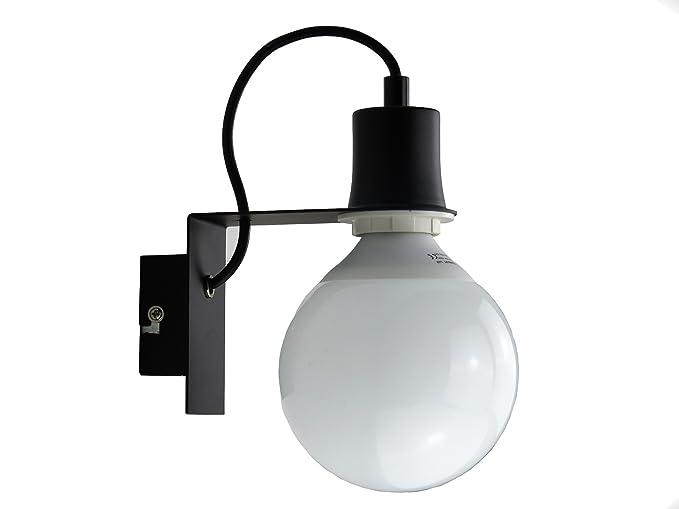 Lampada parete applique design moderno nero minimal art industrial