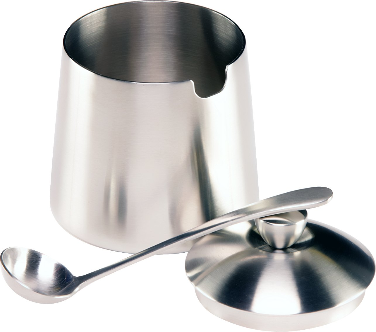 Frieling Brushed Stainless Steel Creamer & Sugar Bowl with Spoon Set by Frieling (Image #4)