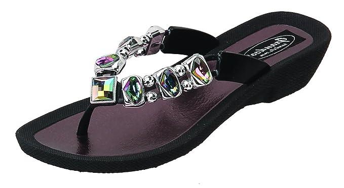 1937c1472 Amazon.com  Grandco Women s AB Deluxe Thong Sandal  Clothing