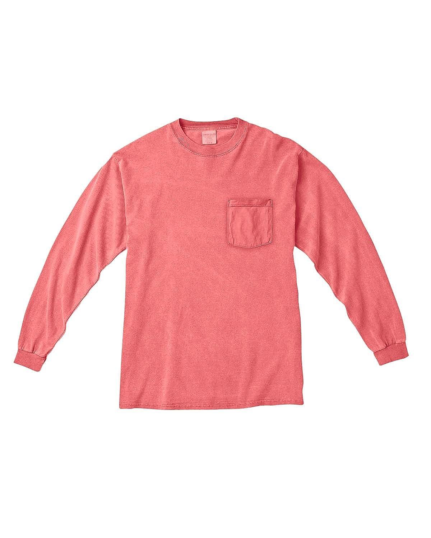 Comfort Colors 6.1 Oz. Long-Sleeve Pocket T-Shirt (C4410) | Amazon.com