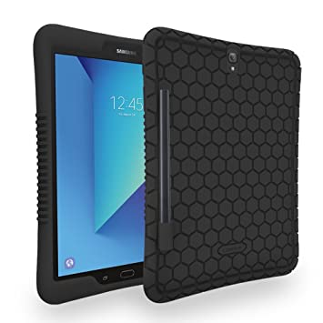 Honey Comb Samsung Galaxy Tab S3 9.7 Case by Fintie - Light Weight Shock Proof Silicone Cover with S Pen Holder [Anti Slip] [Kids Friendly] for Tab S3 ...