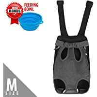 [Upgrade the Sizing Chart] Legs Out Front Pet Dog Carrier Backpack with Tail Hole   HandsFree Traveling Dog Cat Pet Bag for Hiking Camping with Adjustable Strap and Inner Collar   Machine Washable