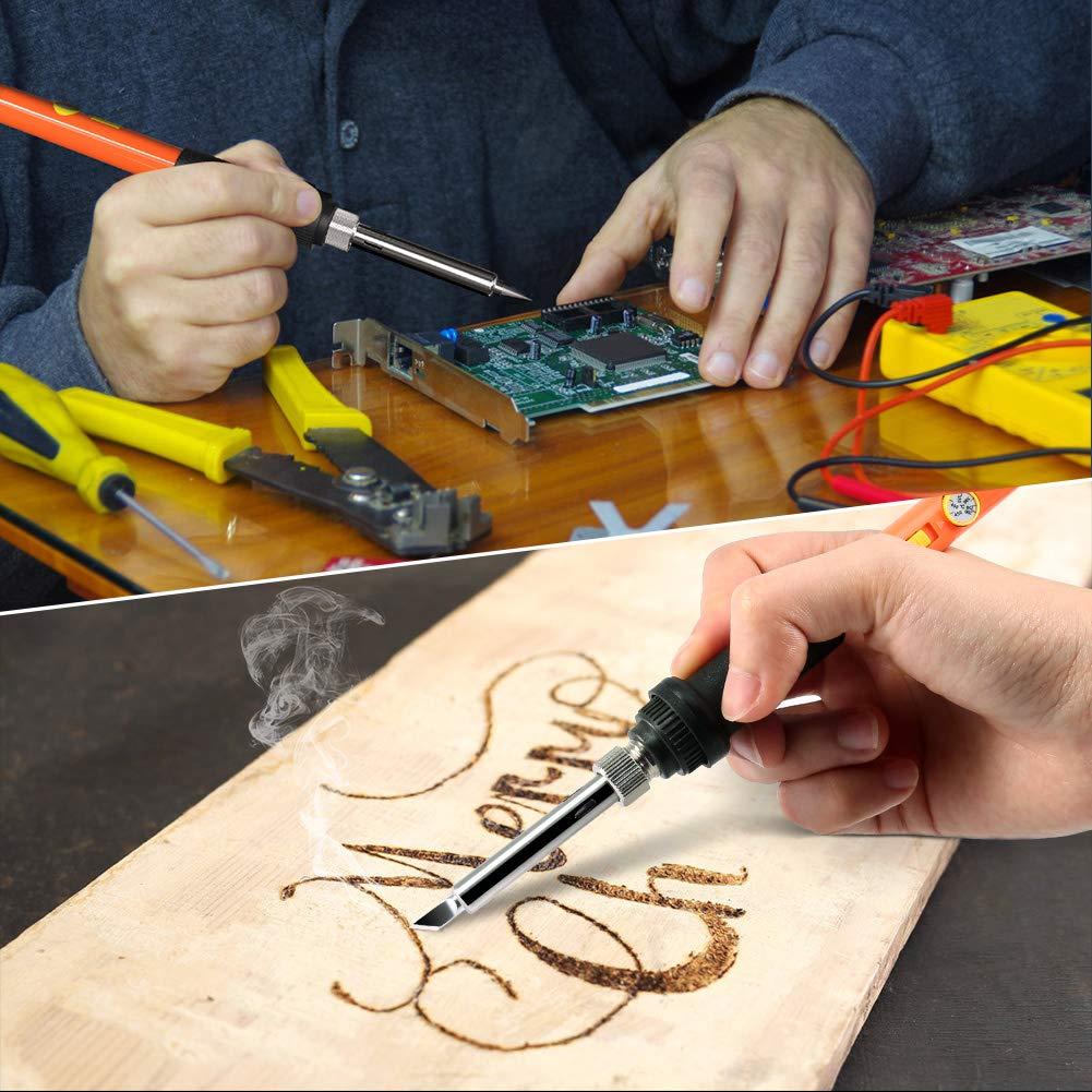 Cuir avec 35 Conseils 44 PCS Kit Pyrogravure Bois pour Li/ège Sculpture Bois ZOTO 60W Pyrograveur sur Bois Temp/érature R/églable Soudure 200V~240V//AC