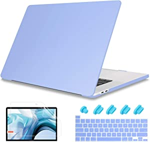 May Chen Newest MacBook Pro 13 Inch Case 2020 Release Models: A2289 A2251, 4 in 1 Screen protertor + Keyboard Cover + Dust Plug PC Hard Shell Case for Mac Pro 13 Touch Bar,Solid Blue