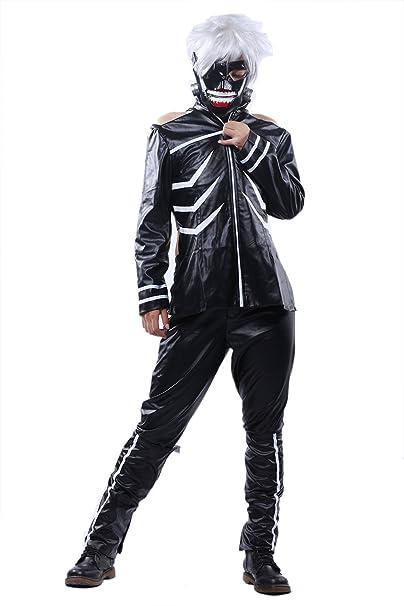 Amazon.com: Halloween Ghoul Kaneki de Cosplay disfraz Estilo ...