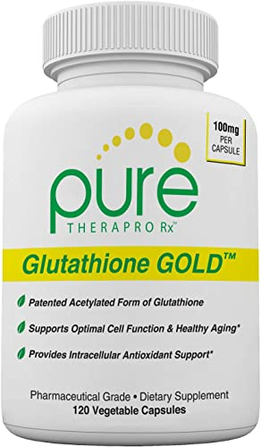 S-Acetyl Glutathione Gold – 120 DRcaps Acid-Resistant 100mg Per Capsule Patented Acetylated Form of Glutathione Emothion 2-4 Month Supply Zero Fillers Flow Agents Pharmaceutical Grade