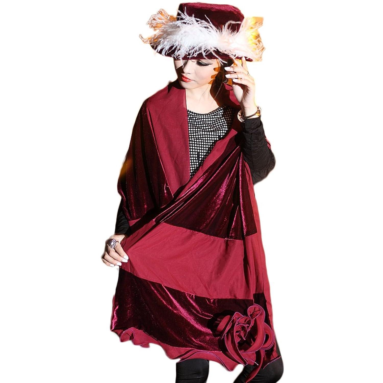 June's Young Damen-Hüte Samthut mit Feder Winter Herbst Cape Weihnachts-Hut weinot