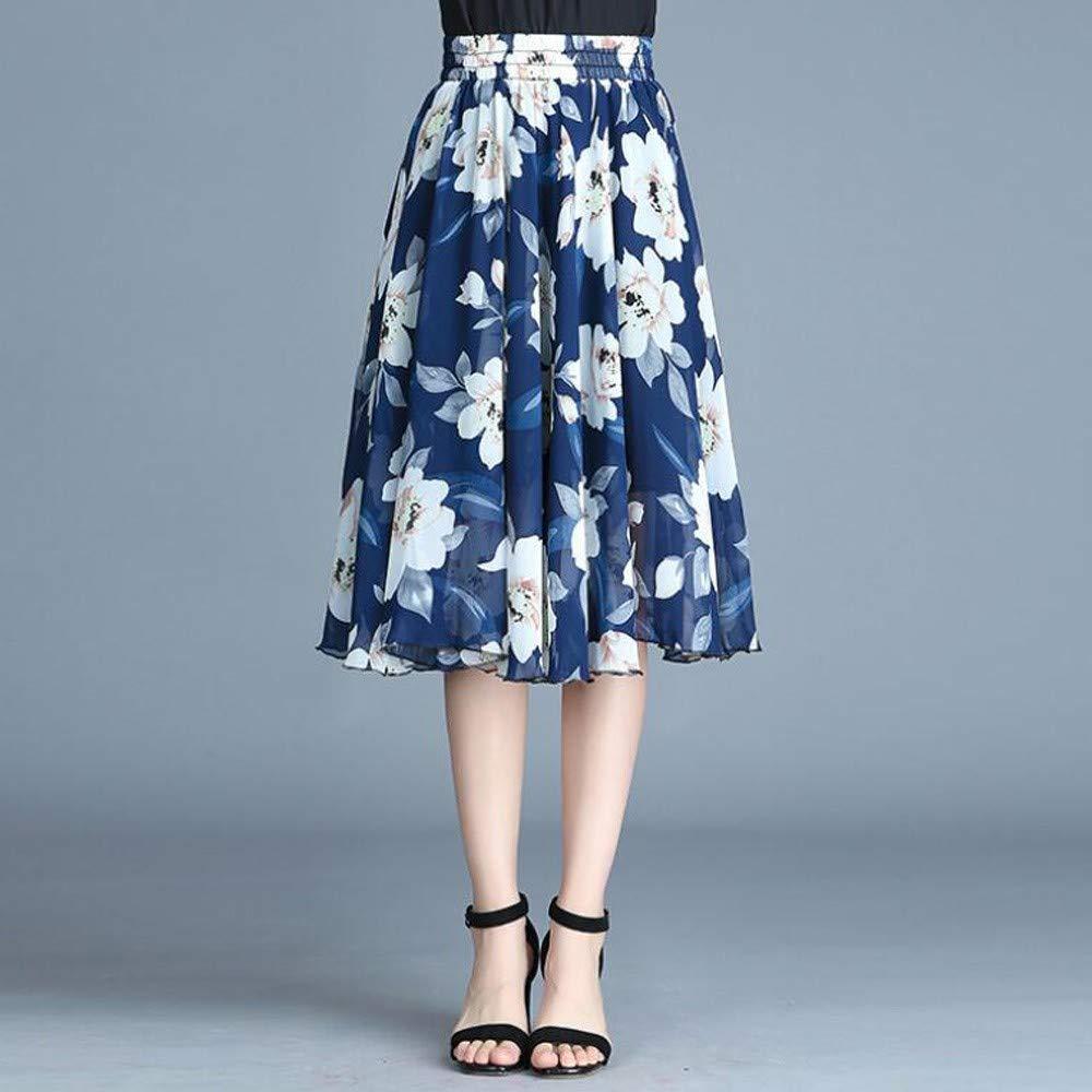 HEHEAB Falda,Vintage Azul Falda Señoras Womens Casual Verano Playa ...