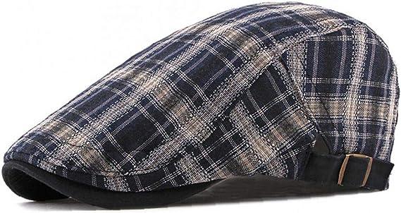 Ajustable a Cuadros De La Boina De Algodón Transpirable Sombreros ...