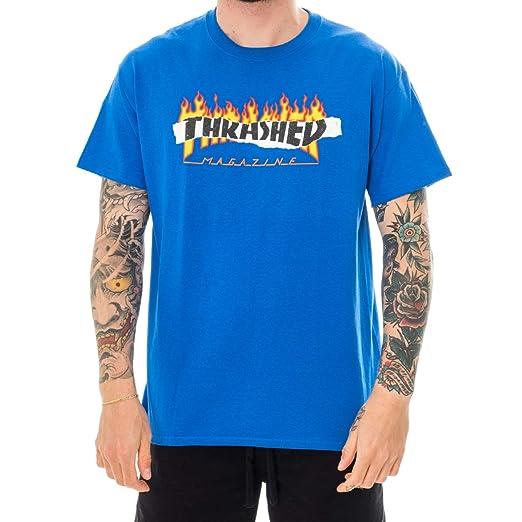 c762f441fcee Thrasher Royal Blue Ripped T-Shirt | Amazon.com