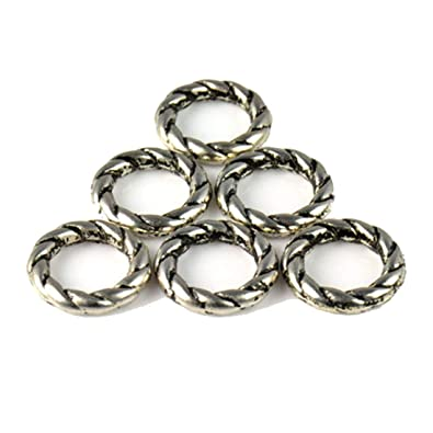 3503fef55dd326 Amazon.com  50g lot Roped Plastic Rings for Scarves Accessories