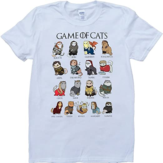 154f7146140 Brain Dump Tees Game Of Throne Game Of Cats Funny White