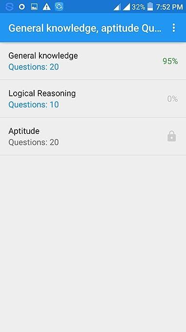 Amazon com: General knowledge, aptitude Quiz app: Appstore