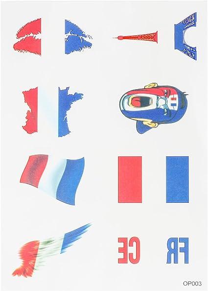 OUERKEJI Las etiquetas engomadas de América / Canadá / Francia / Alemania / Reino Unido / España / bandera de Australia Pegatinas Tattoo Sticker French: Amazon.es: Coche y moto