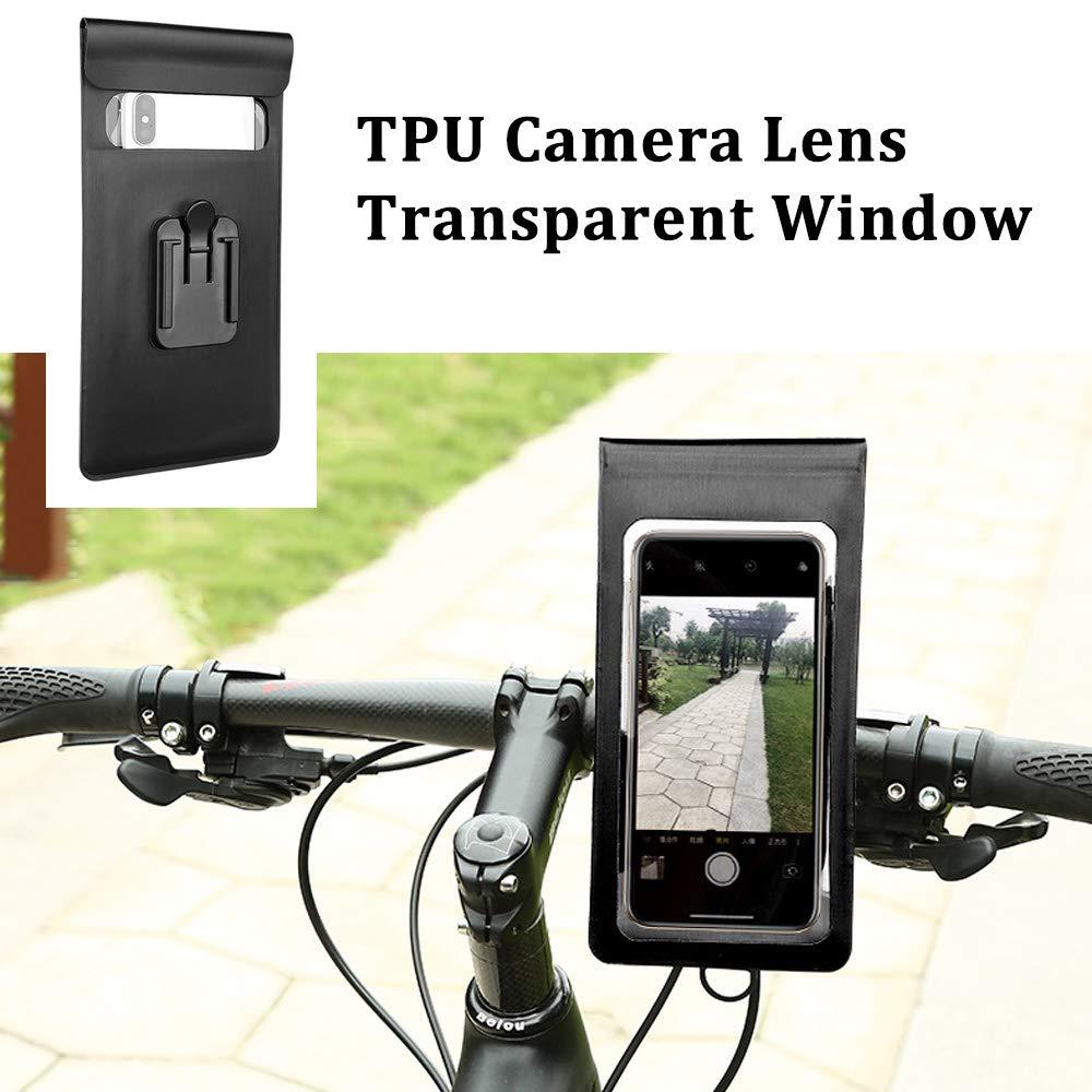BUENNUS Waterproof Bike Phone Mount Motorcycle Phone Holder Handlebar,Motorbike//Bicycle Phone Bag for iPhone X//XR//XS Max//XS//8//8plus//Samsung Note 9//Note 8//Galaxy S10//S10+//S10E//S9//S9+//S8//S8+//LG//SONY