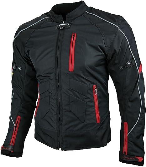 36 S HEYBERRY Damen Motorrad Jacke Motorradjacke Textil Schwarz Wei/ß Gr