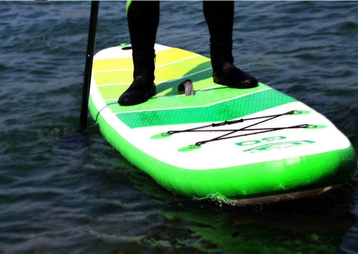 Jsqianchen 10.9Soft Top Surfboard Stand Up Paddle Board Tabla de Surf Inflable Adult Sup Board (Color : Green, Size : 305 * 76 * 15): Amazon.es: Deportes y ...