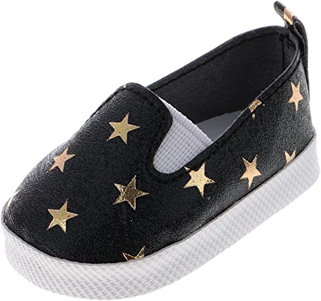 Shoes for 18inch American Doll Doll Clothes Dress Clothing Accs PU Leather Flats